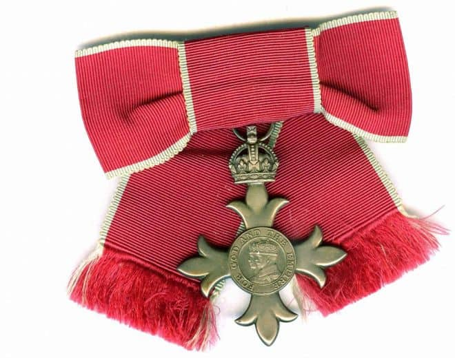 June Ross receives MBE