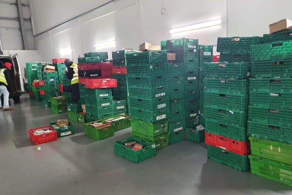ECE Volunteers packing groceries