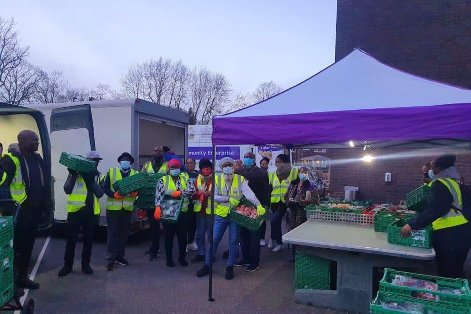 ECE Volunteers at food bank
