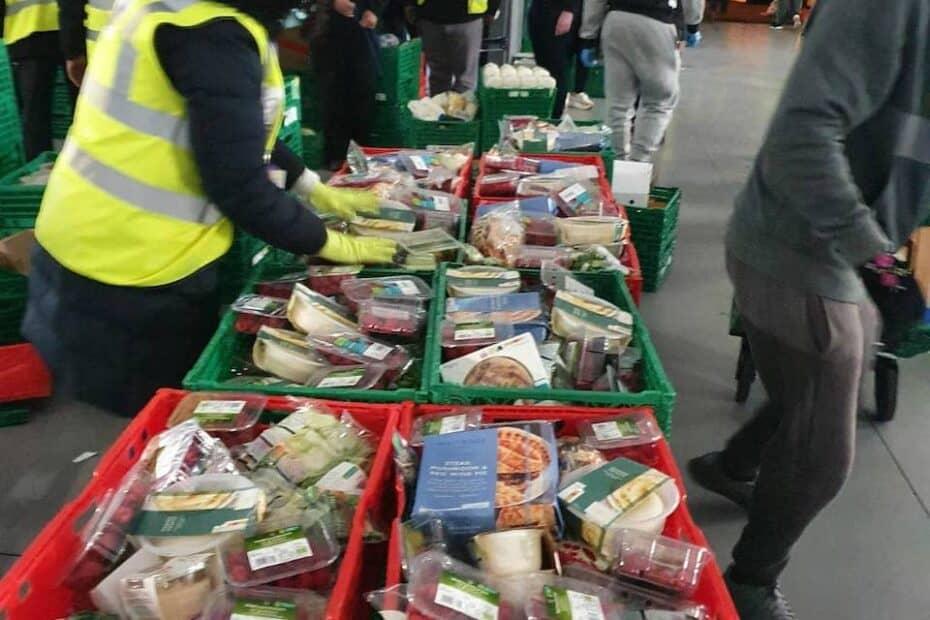 ECE Team and Volunteers preparing groceries