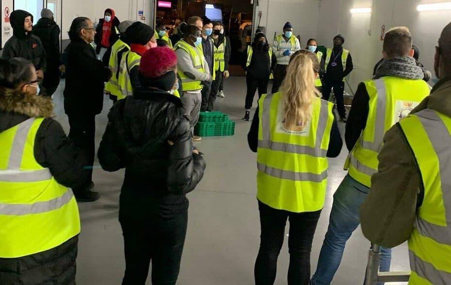 ECE Team and Volunteers being briefed